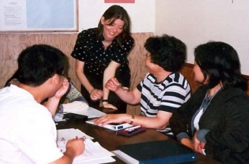 Nancy teaching